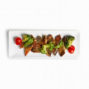 Печені скумбрія та броколі