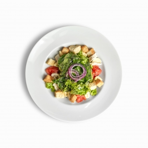 Салат з ніжною куркою та моцареллою