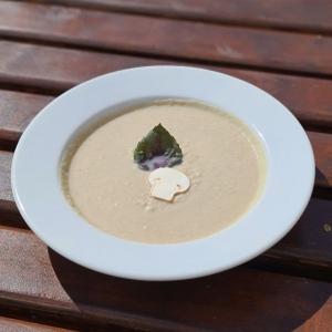 Крем-суп з печериць та курки