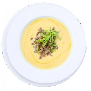 Гарбузовий крем-суп з телятиною
