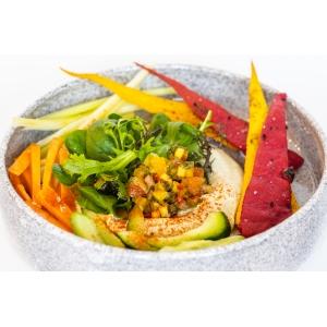 Справжній хумус з домашніми грісіні та хрусткими овочами (200 гр)