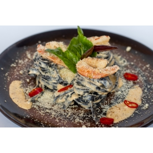 Паста з креветками та чорнилами каракатиці (310 гр)