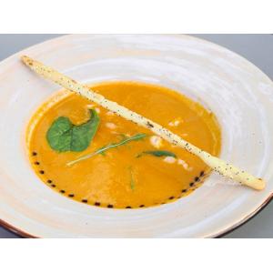 Крем суп з печених томатів з лососем (200 гр)